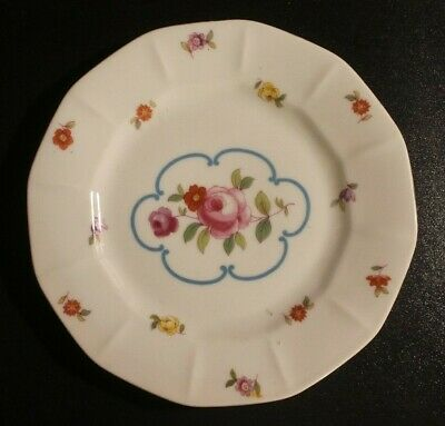 Victoria Czechoslovakia Flowered Fluted Plate