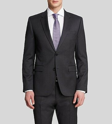 $995 HUGO BOSS men GRAY 2-BUTTON WOOL BLAZER SUIT JACKET SPORT COAT 42 R | 52 EU