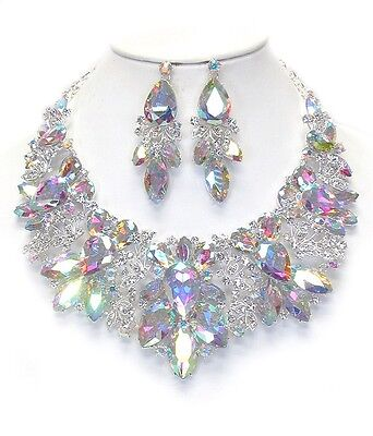 Australian Crystals Victorian Necklace & Earring Set Bridal Prom Formal QUALITY