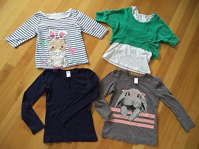 Girls 4 Assorted Long Sleeve Tees Size 7 Excellent Condition
