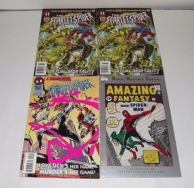 The Amazing Scarlet Spider Comic lot of 4! Issues 1, 1, 2, and Spiderman 15