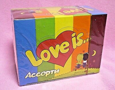 Love is... Assorted Mix bubble chewing gum 100 pcs  SEALED BOX !!!