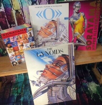 Sorayama Lot 4 Books The Complete Works Of Hajime Exotic Fantasy Art Book