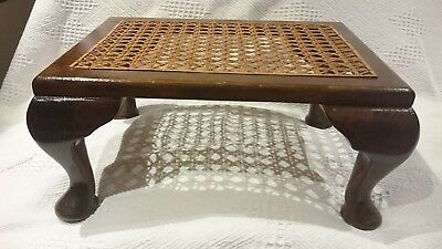 Antique 'Canadian Wood' Foot Stool with Cane weave top