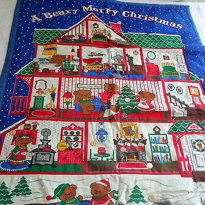 Beary Merry Christmas Advent Calendar Finished Quilt Wall Hanging No Bear