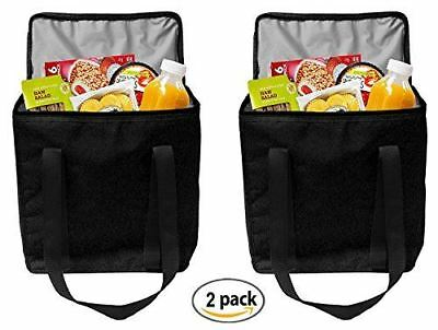 Earthwise Reusable Insulated Grocery Bags Heavy Duty Nylon Thermal Cooler Tote W