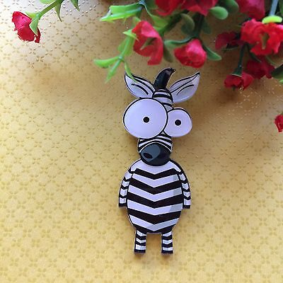 Cute Quirky Zebra Brooch Pin/Lapel/ Coat /Backpack/Jewelry Retro