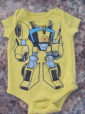 Transformers Bumblebee Baby Creeper / Bodysuit Size 0/3 months