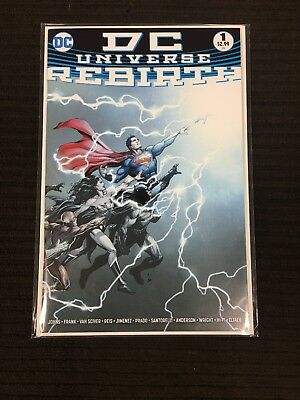 DC UNIVERSE REBIRTH #1 (2016) 1st print BATMAN Wonder Woman JUSTICE LEAGUE NM