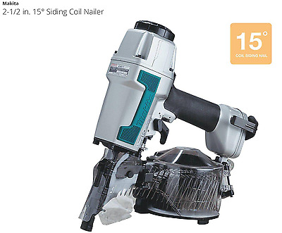 New Makita 2-1/2 in. 15° Siding Coil Nailer (Free Fedex Shipping)