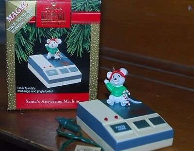 1992 Hallmark Santa's Answering Machine Magic Christmas Ornament