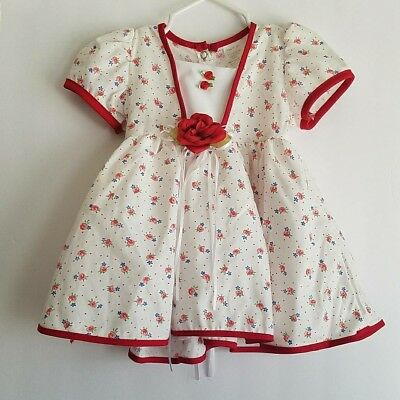 Vintage Baby Girl Floral Dress Made in USA