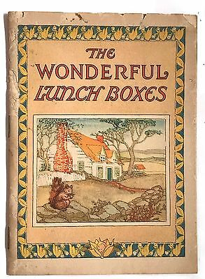 VTG 1927 Postum Bran Wonderful Lunch Boxes Fairy Nature Color Illustrated Book