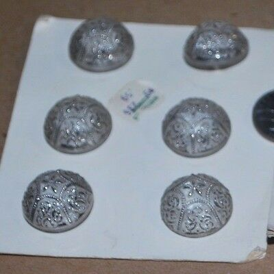 Vintage  Set Of 12 Clear Glass Marshall Fields & Co.buttons