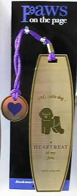 NEW Set of 3 ~ Dog Lover Metal Bookmarks ~ Bichon ~ Paws on the Page