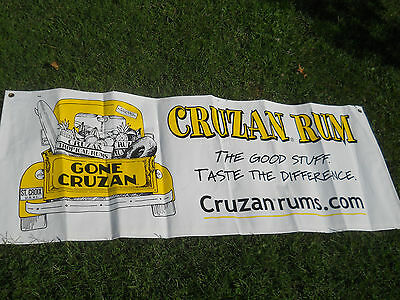 Cruzan Rum Vinyl Banner 57x22-Gone Cruzan St. Croix US Virgin Islands-NOS