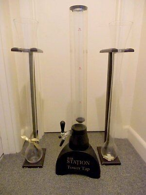 Bar Station Tower Tap and 2 Yard Glasses