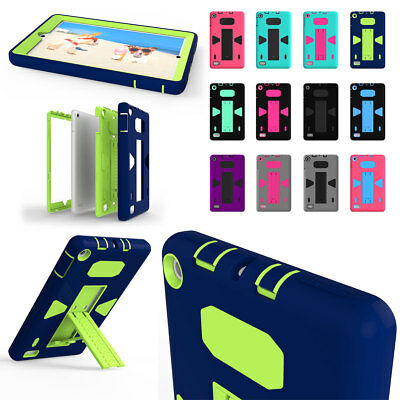 Hybrid Rugged Shockproof Stand Case For Amazon Kindle Fire HD 8 2017 7th Gen