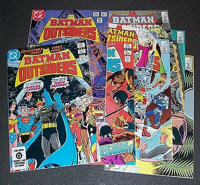 LOT/7: VFNM BATMAN & THE OUTSIDERS 1, 3, 4, 5, 6, 7, 18, 19  Bag+Bd,New