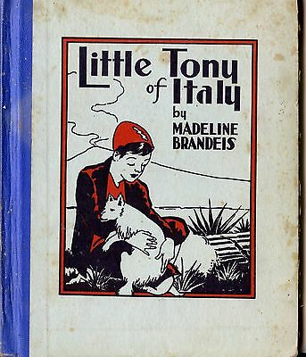 Old 1934 Children's Book Little Tony of Italy by Madeline Brandeis