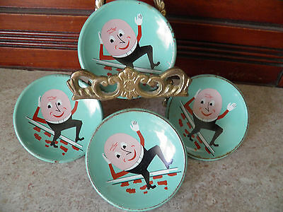 Vintage Draw Pulls / Knobs - Humpty Dumpty - Child's Room - Turquoise Color