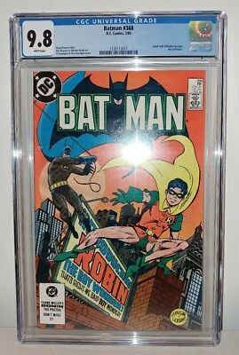 Batman #368 - CGC 9.8 - White Pages - 1st Jason Todd Robin - NEW