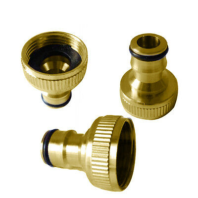 """Brass Water Stop Quick Connector Hoselock Clip Release 1/2""""  3/4"""" Coupling Inlet"""