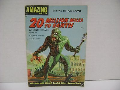 1957 Amazing Stories Pulp Digest 20 Million Miles to Earth Henry Slesar