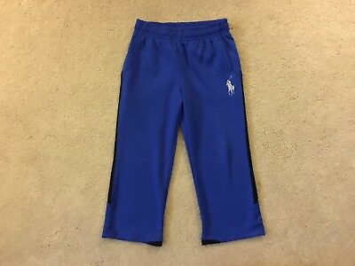 Ralph Lauren Toddler Boy's Blue Track Performance Pants Size 3T Euc
