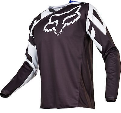 Fox 17 180 Race Black/White MX Jersey Motocross Sport Dirt Bike Off Road Gear