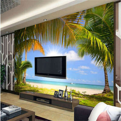 Sunny Palm Tree Full Wall Mural Photo Wallpaper Printing 3D Decor Kids Home