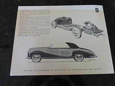 50's ISOTTA FRASCHINI 8C MONTEROSA SALES BROCHURE EXCELLENT CONDITION