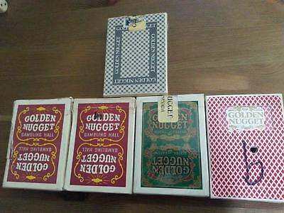 Lot Of 5 Golden Nugget Gambling Hall Playing Cards Red Green Read Below