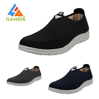 iLoveSIA Mens Soft Walking Slip-on Casual Mesh Surface breathable Loafer US 8-12