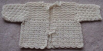 VINTAGE HAND CROCHETED Baby Sweater - 1950