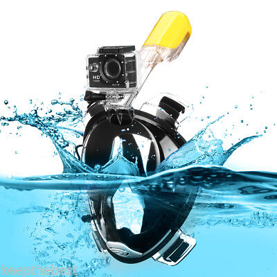 Full Face Snorkeling Snorkel Mask Seaview Diving Goggles Breather Pipe For GoPro