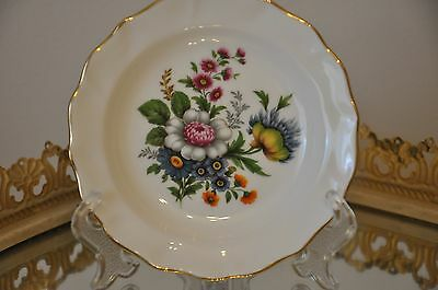 DUCHESS Bone China England  Small Plate or Pin Dish 12cm wide Floral Bouquet
