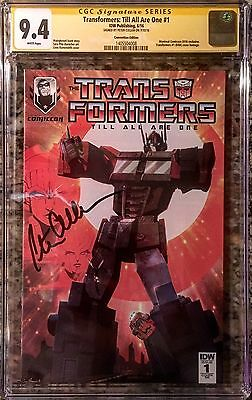 Transformers #1 Signed By Peter Cullen *optimus Prime, Exclusive Cgc 9.4 Rare