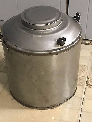 Vintage large silver pc oil can