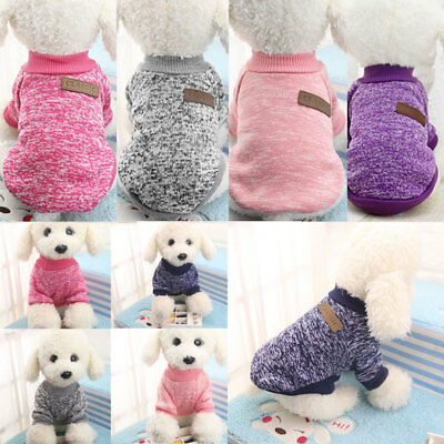 Multi-Color Cute Pets Clothes Warm Sweater Coat Costume Apparel PUPPY SMALL DOGS