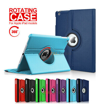 360 Leather Smart Case Cover for Apple iPad 6 5 4 3 2, iPad mini iPad Air / Pro