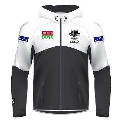 AFL Collingwood Magpies Mens Workout Full Zip Hoody Jacket BNWT