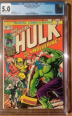 Incredible Hulk #181 CGC 5.0 (VG/FN) 1st Appearance of Wolverine!!!