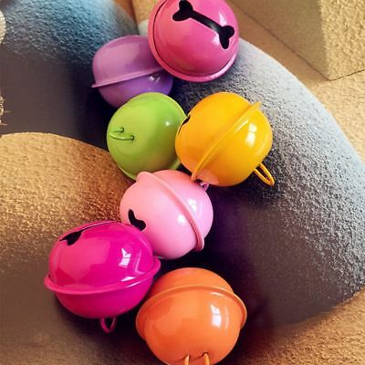 Metal Charms For Key Chain 10Pcs Colorful Accessories Small Bell 22mm DIY