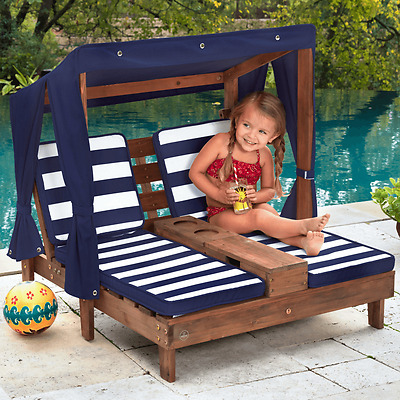 KidKraft Kids Double Chaise Lounge Outdoor Furniture Children Play NEW 00535