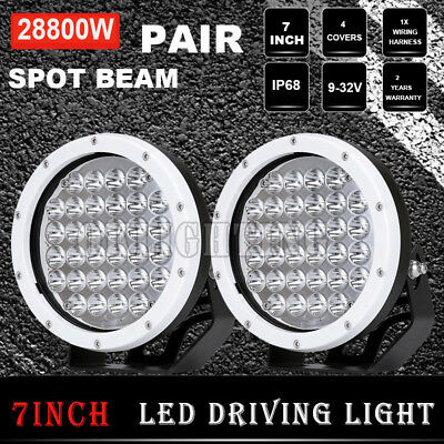 7INCH 28800W Round LED Cree Driving Light White Spotlights Offroad 4WD SUV Truck
