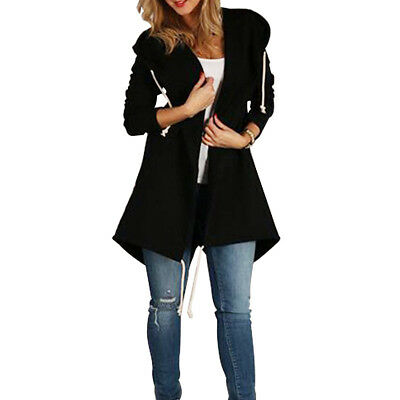 Women Fashion Hoodie Long Sleeve Casual Hooded Coat Jacket Pullover Tops Parka M