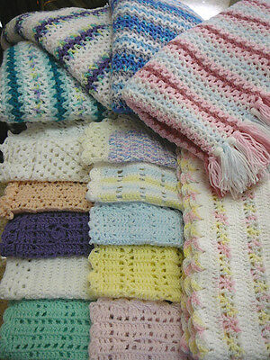 15 EASY TO CROCHET BABY BLANKET PATTERNS (emailed to you as a PDF file)