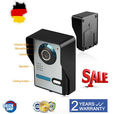 video t rsprechanlage edelstahl mit kamera 2 monitor klingel t rklingel doorbell eur 102 50. Black Bedroom Furniture Sets. Home Design Ideas