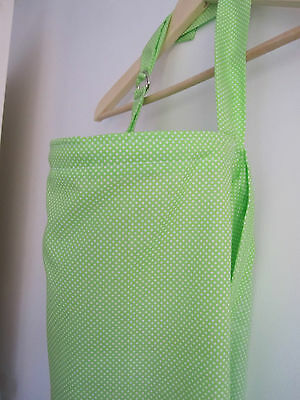 SALE POLKA DOTS LIME GREEN Nursing Apron Breast Feeding Cover Baby Shower Gift